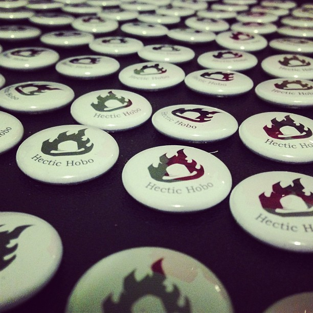 Hectic Hobo Buttons Pinback