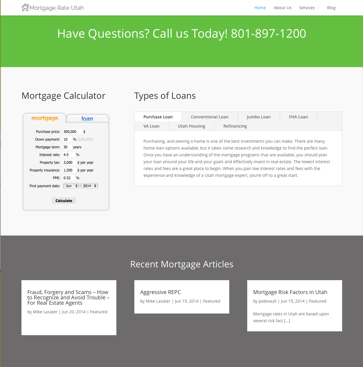 Mortgage Rate Utah Mortgage Calculator