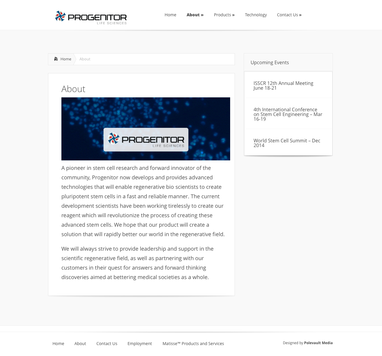 progenitor life sciences ABOUT PAGE