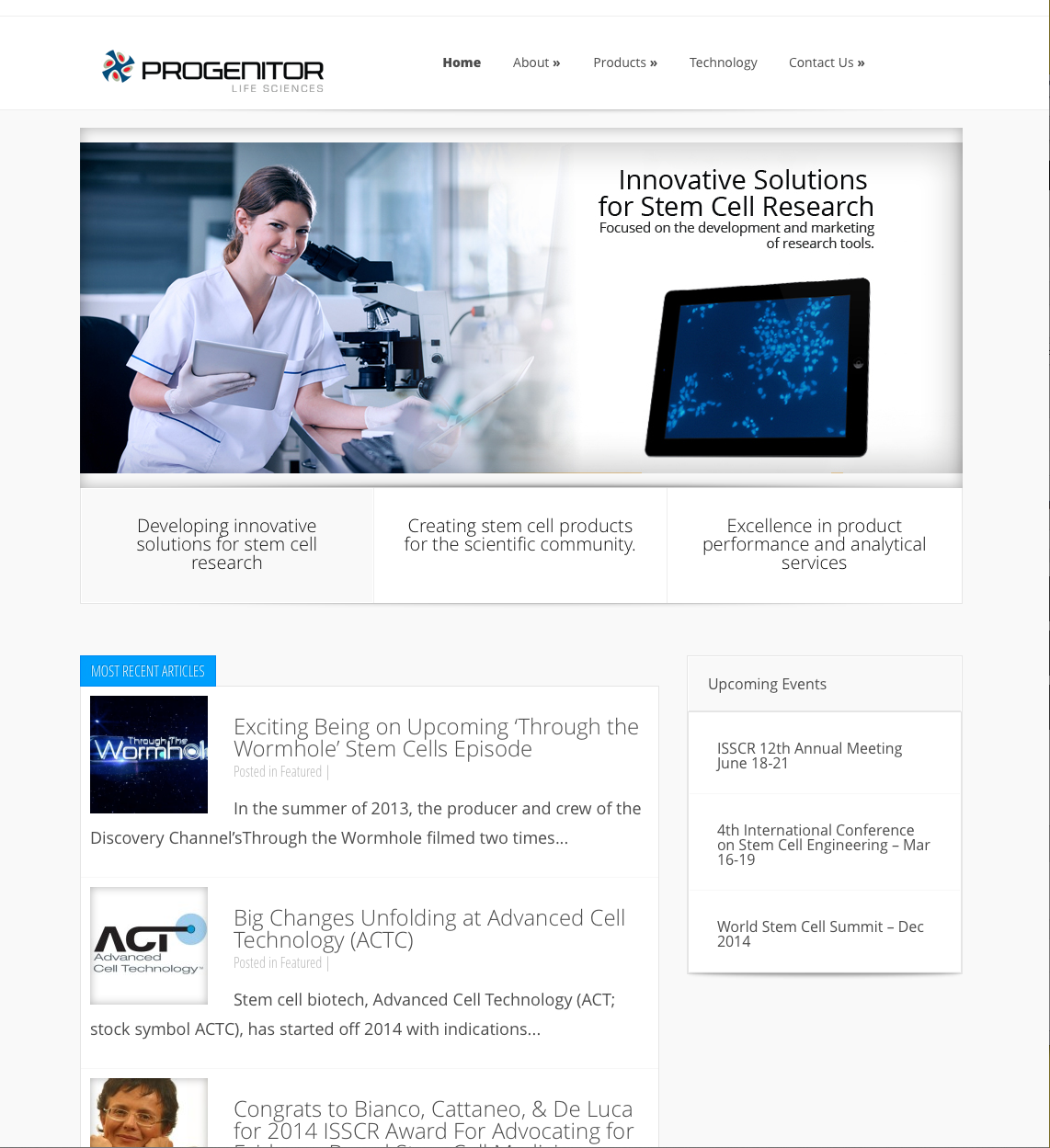progenitor life sciences HOME PAGE