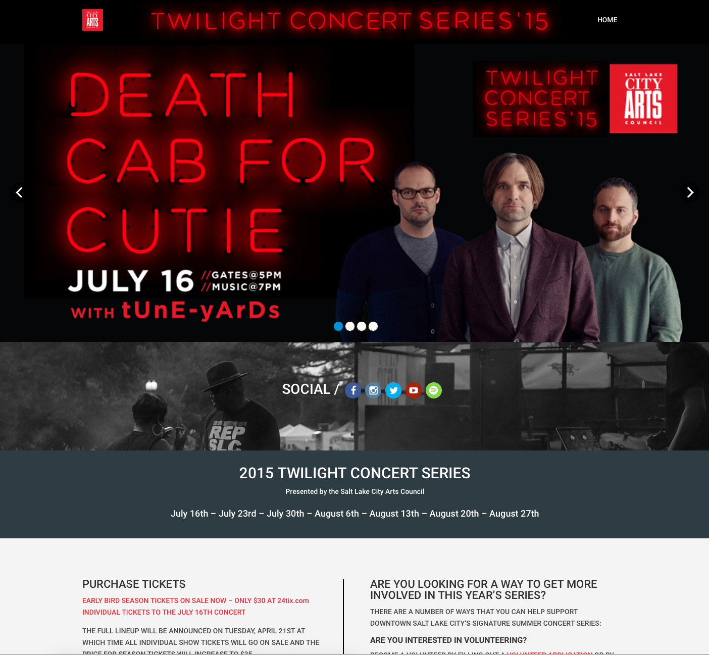 Twilight Concert Series 2015 Site