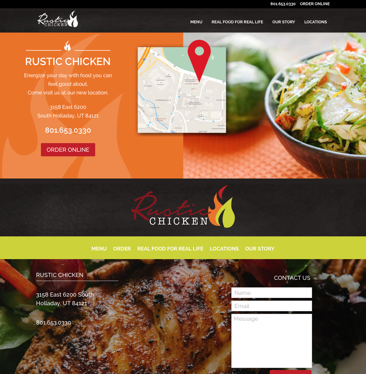 Rustic Chicken Home Page Footer