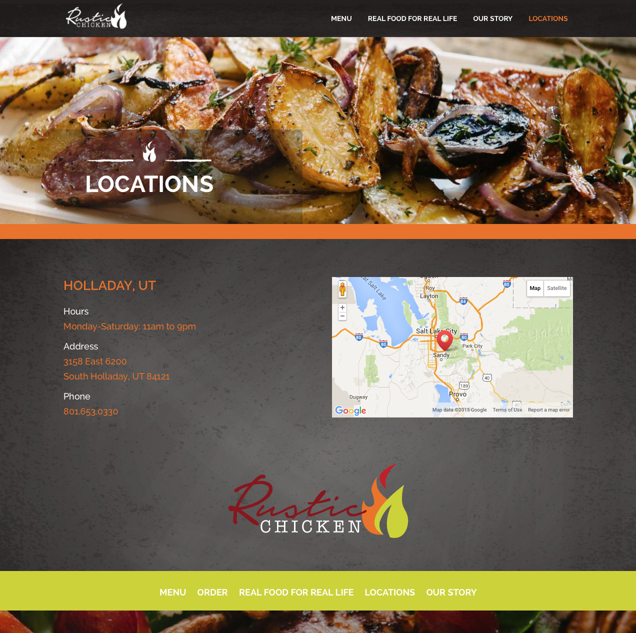 Rustic Chicken Locations Page