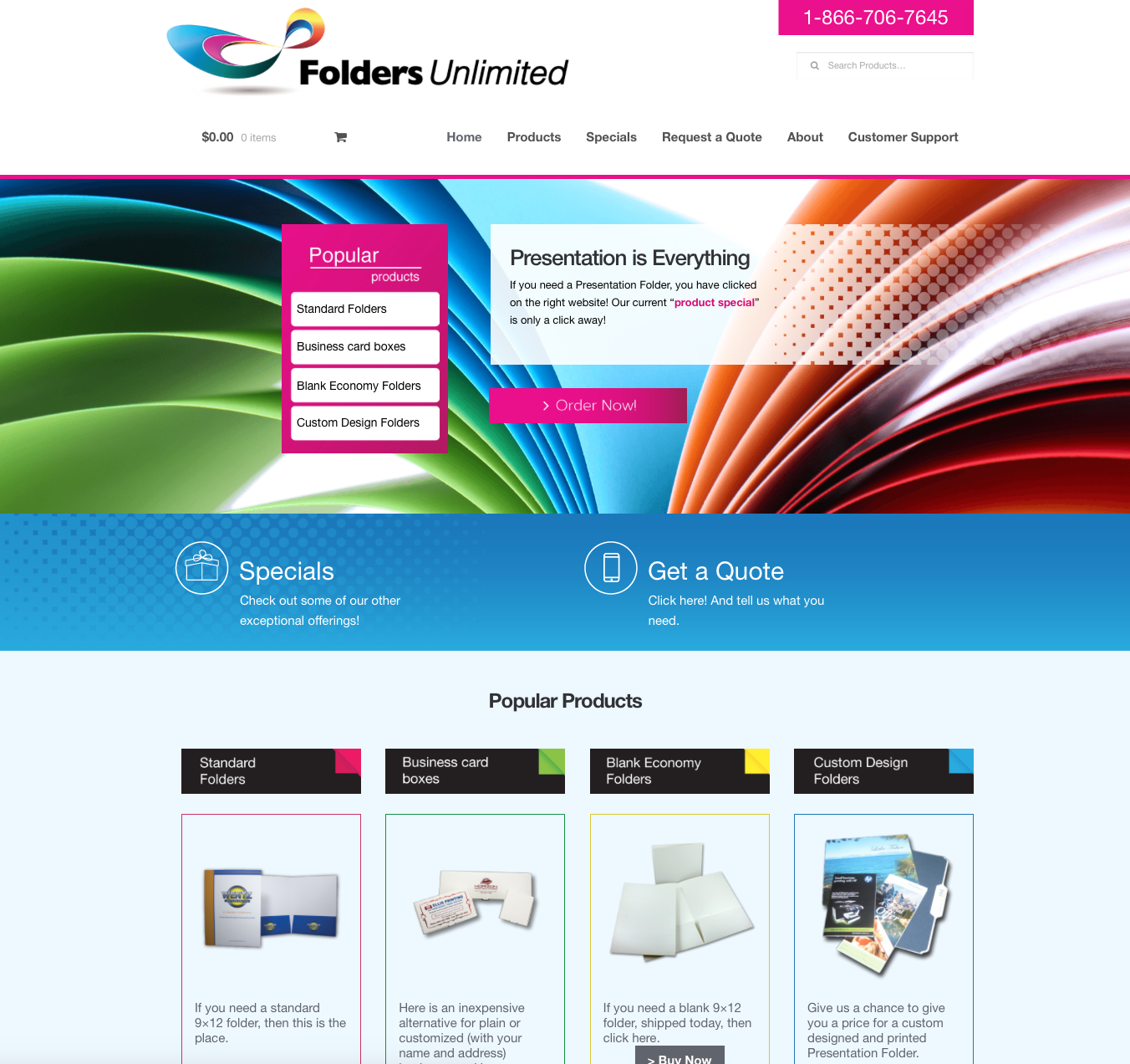 Home Page Folders Unlimited