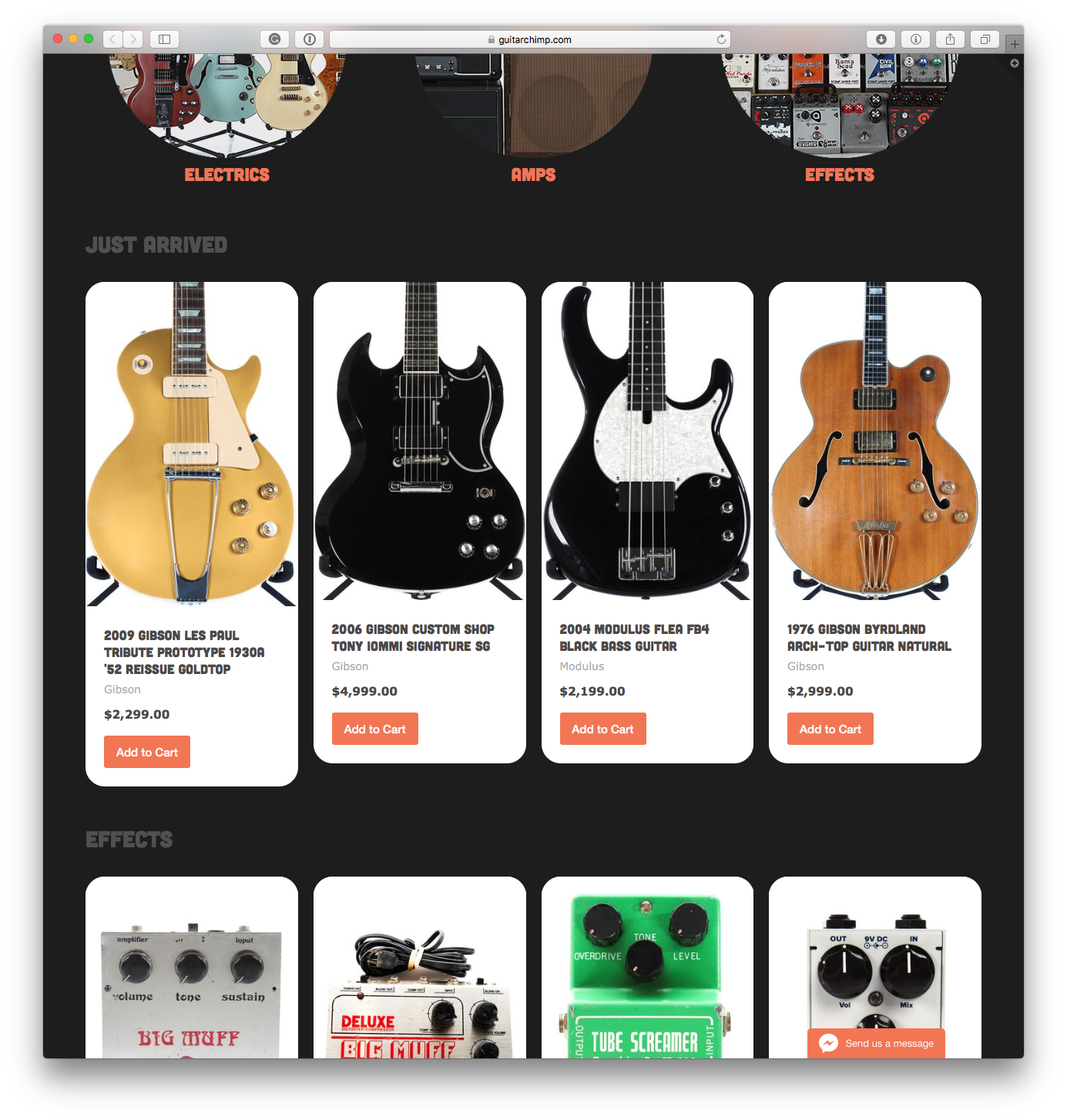 Guitar Chimp homepage center