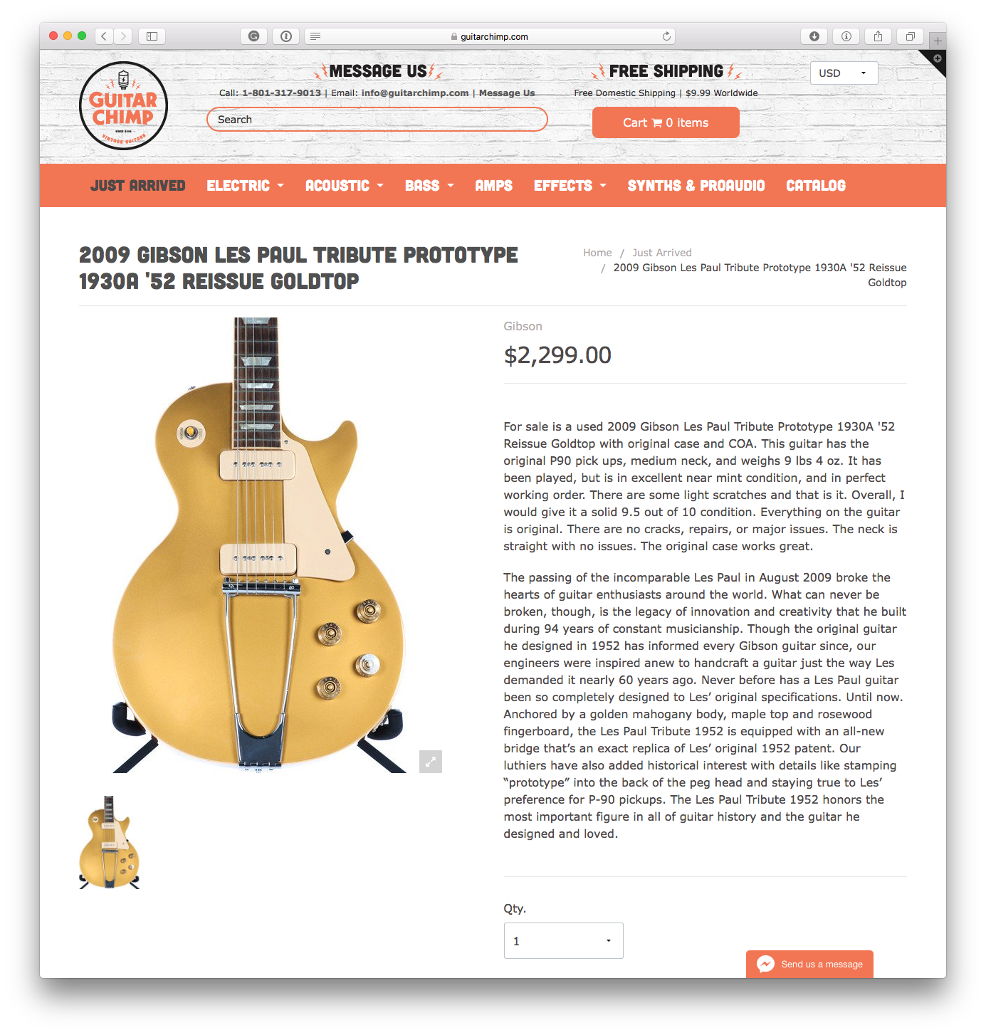 Guitar Chimp Product Page
