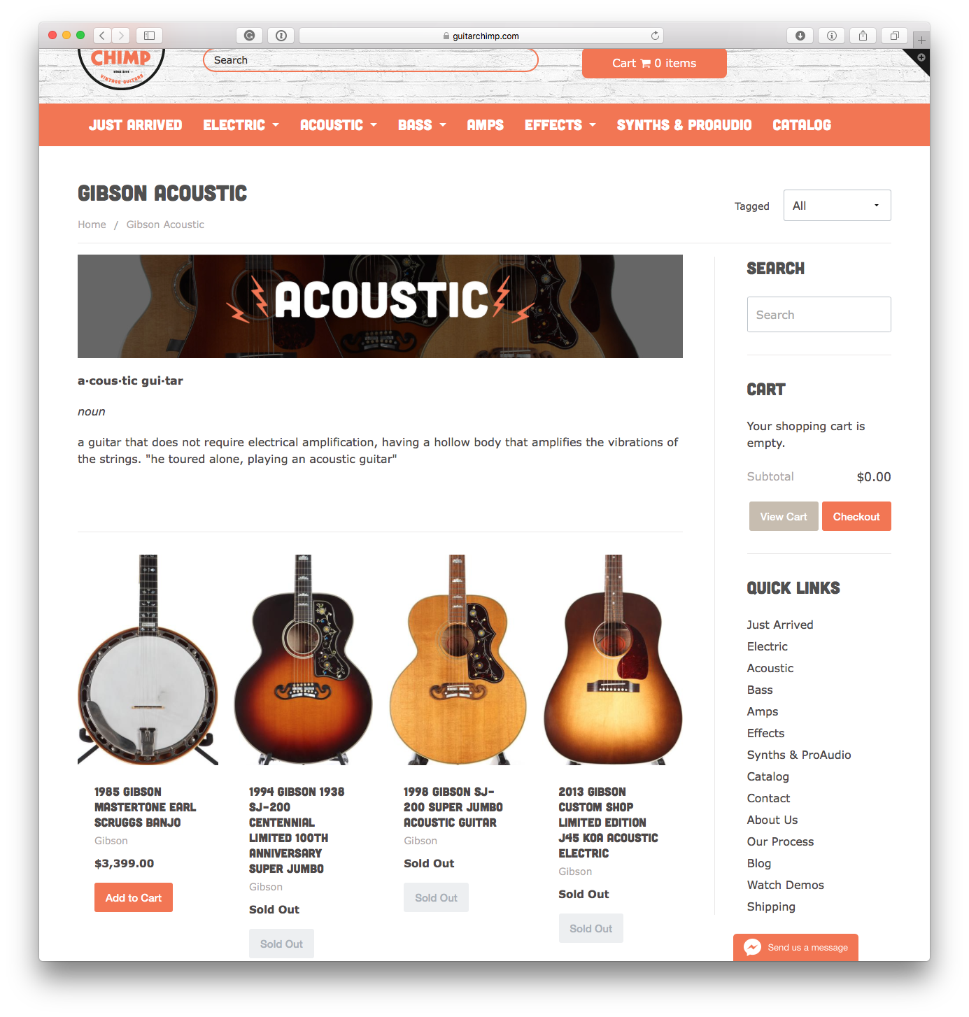 Guitar Chimp Category Page
