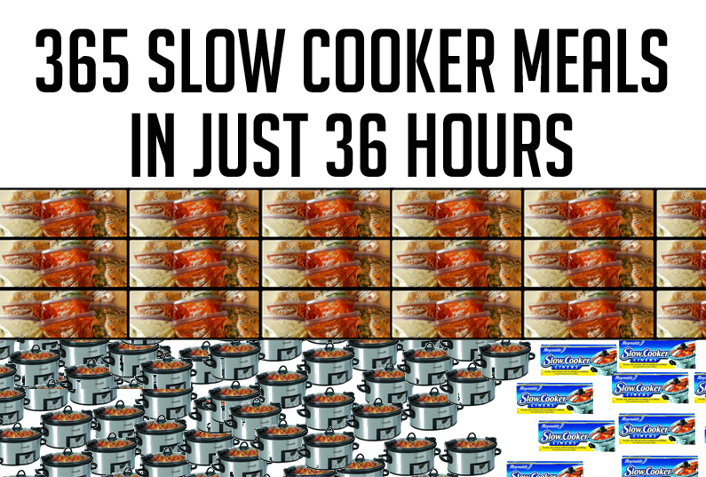 365 Slow Cooker Meals in just 36 hours