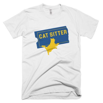 Cat Sitter men's t-shirt