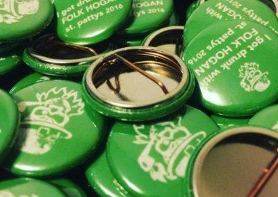 Folk Hogan St Pattys Day Pins