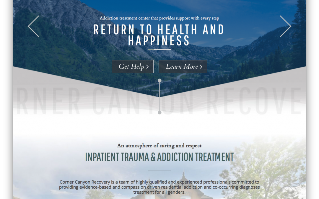 Corner Canyon Recovery Web Design